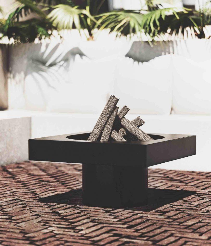 outdoor fireplace drop design fire